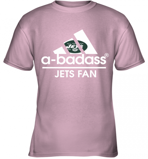xdyk a badass new york jets mashup adidas nfl youth t shirt 26 front light pink