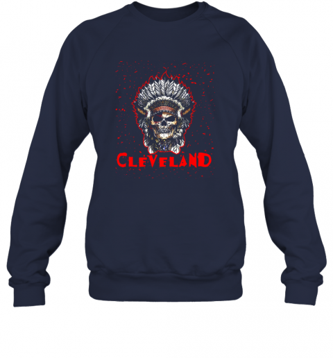 hv2y cleveland hometown indian tribe vintage baseball fan awesome sweatshirt 35 front navy