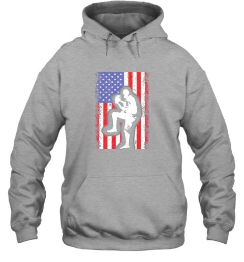 vwag vintage usa american flag baseball player team gift hoodie 23 front sport grey