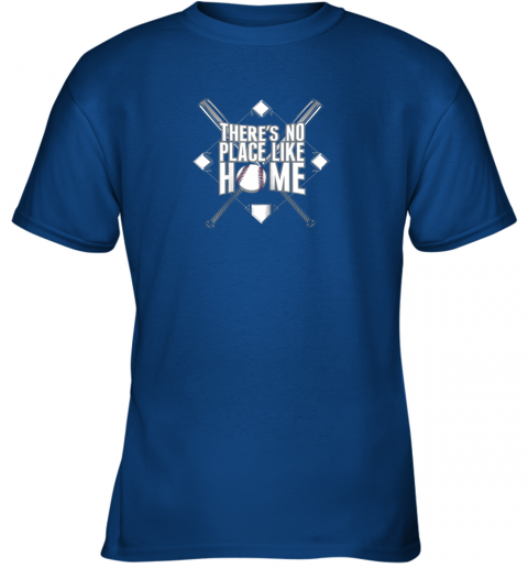 tzq0 there39 s no place like home baseball tshirt mom dad youth youth t shirt 26 front royal