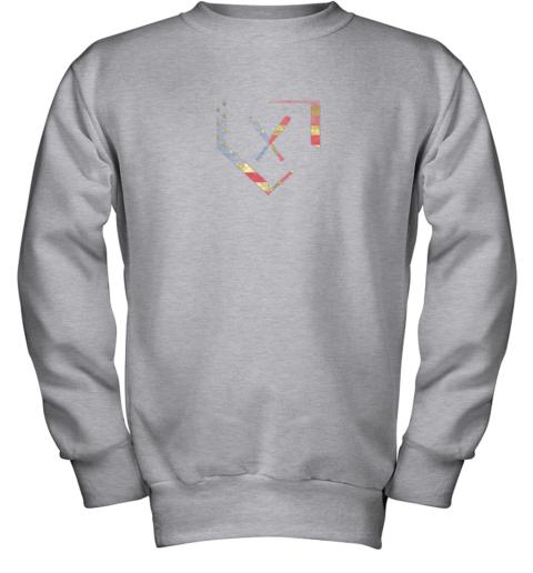 fip7 home plate baseball bats american flag shirt baseballin youth sweatshirt 47 front sport grey