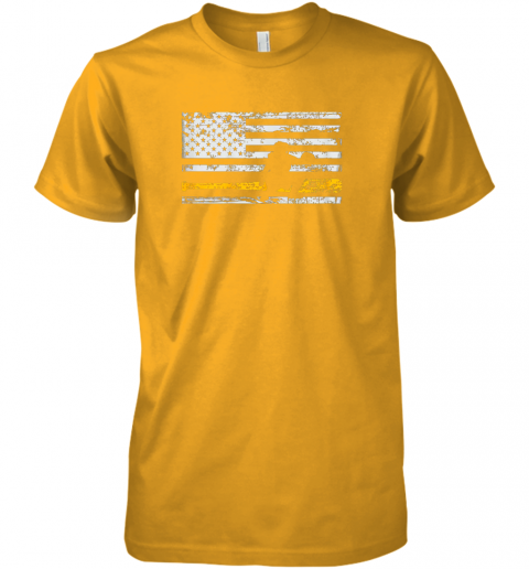puuw softball catcher shirts baseball catcher american flag premium guys tee 5 front gold
