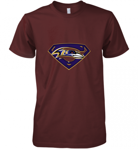 9vkp we are undefeatable the baltimore ravens x superman nfl premium guys tee 5 front maroon