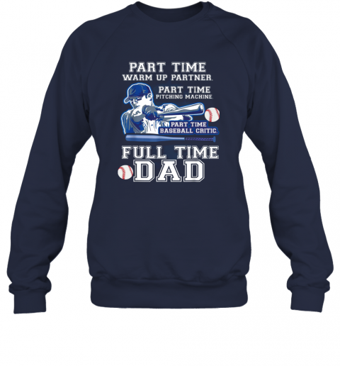 ojnh mens part time warm up partner pitching machine baseball dad sweatshirt 35 front navy