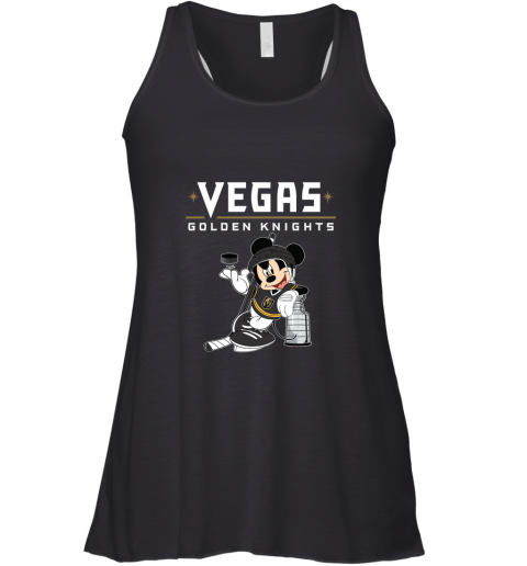 Mickey Vegas Golden Knights With The Stanley Cup Hockey NHL Racerback Tank