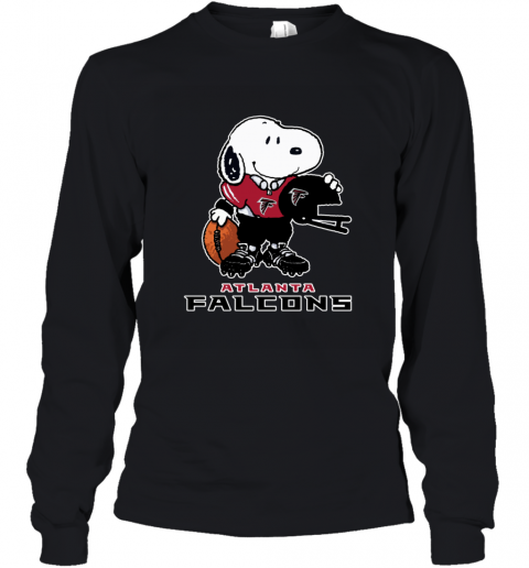 Snoopy A Strong And Proud Atlanta Falcons NFL Youth Long Sleeve