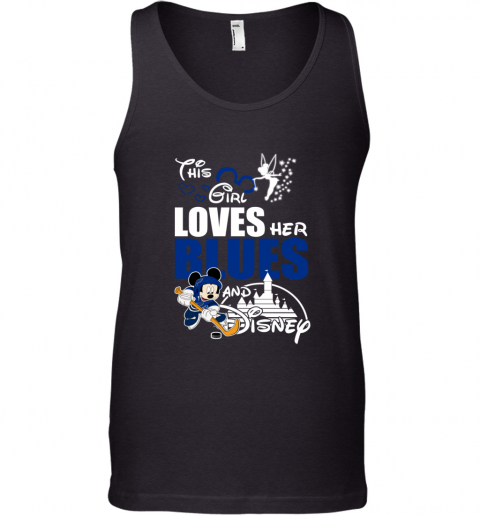 Girl Love Her ST. LOUIS BLUES And Mickey Disney Tank Top