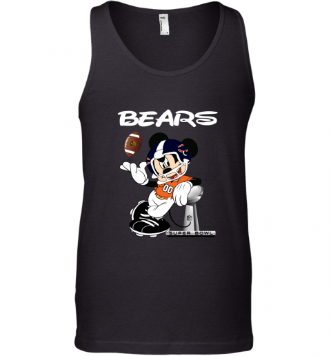 Mickey Bears Taking The Super Bowl Trophy Football Tank Top