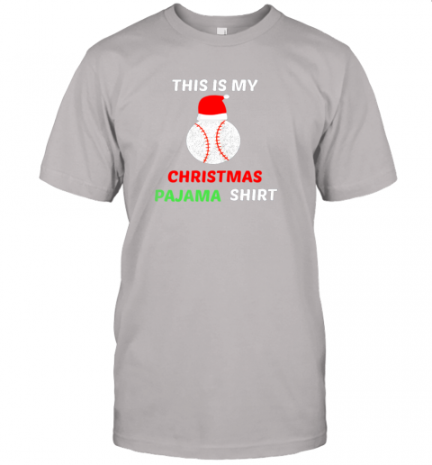 cko2 this is my christmas pajama shirtgift for baseball lover jersey t shirt 60 front ash