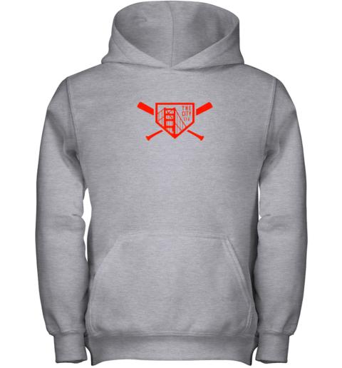 i4kr cool san francisco baseball the city bridge sfo youth hoodie 43 front sport grey