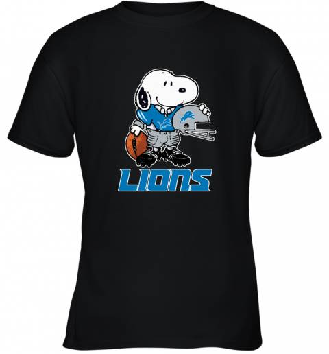 Snoopy A Strong And Proud Detroit Lions Player NFL Youth T-Shirt