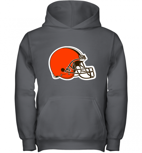 3qw3 cleveland browns nfl pro line by fanatics branded brown victory youth hoodie 43 front charcoal