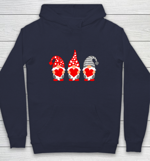Gnomes Hearts Valentine Day Shirts For Couple Hoodie 2
