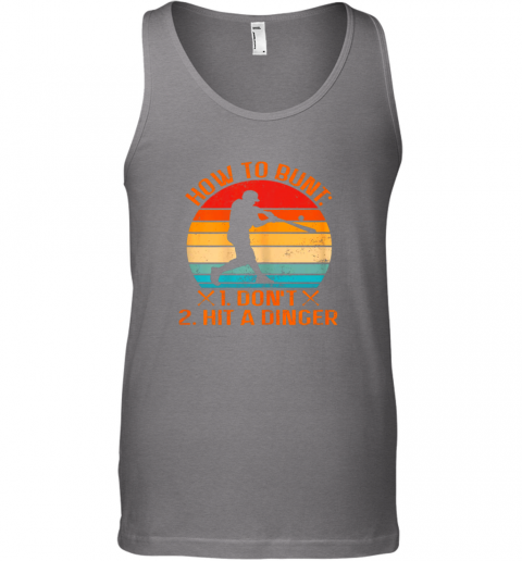 r7hj how to bunt don39 t hit a dinger baseball unisex tank 17 front graphite heather
