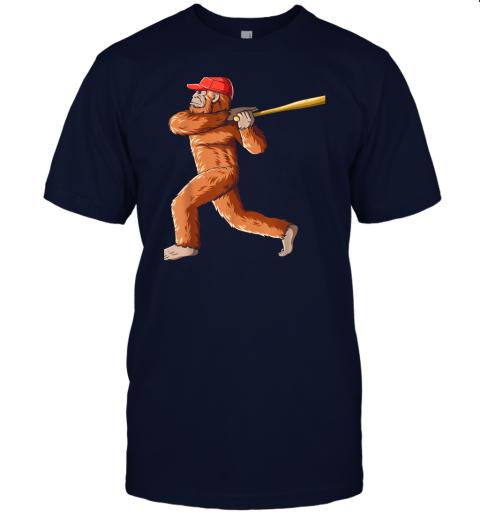 dtdx bigfoot baseball sasquatch playing baseball player jersey t shirt 60 front navy