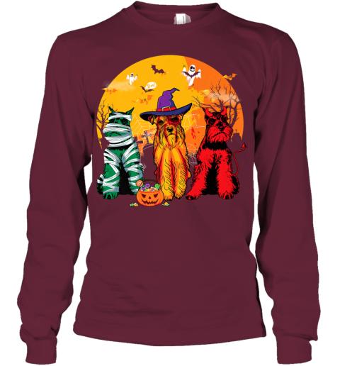 Funny Schnauzer Halloween Costume Shirt Dog lover Gift Premium Youth Long Sleeve