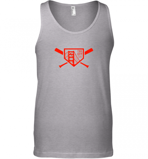 338o cool san francisco baseball the city bridge sfo unisex tank 17 front sport grey