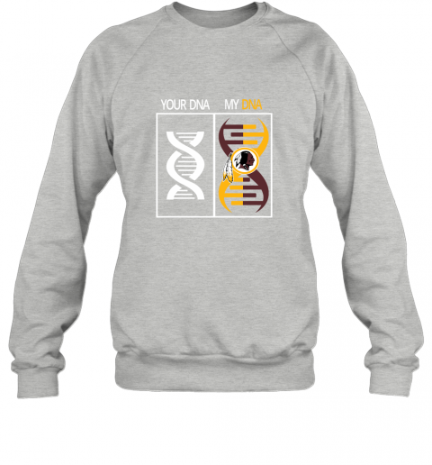 nocf my dna is the washington redskins football nfl sweatshirt 35 front sport grey