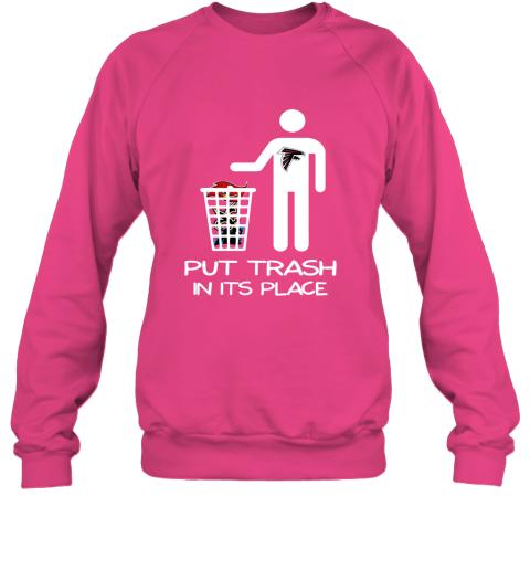 Attlanta Falcons Put Trash In Its Place Funny NFL Sweatshirt