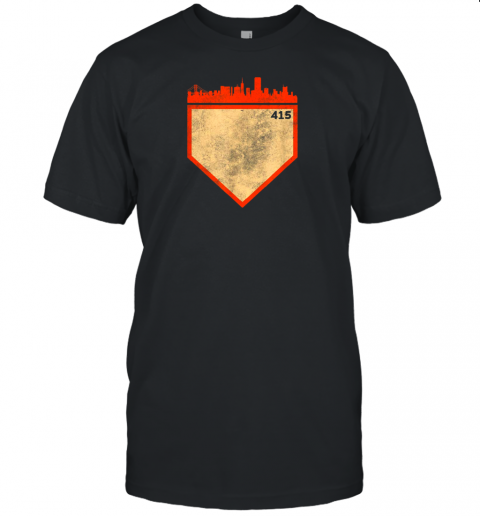 Retro San Francisco Baseball No Plate Like Home Unisex Jersey Tee