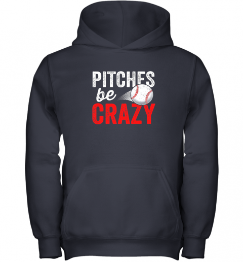 miwg pitches be crazy baseball shirt funny pun mom dad adult youth hoodie 43 front navy