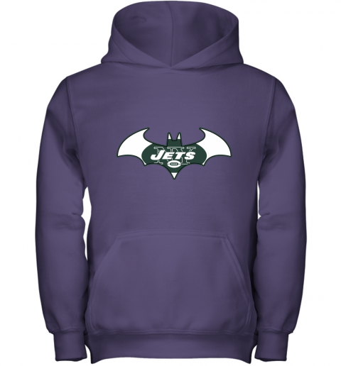 9ugy we are the new york jets batman nfl mashup youth hoodie 43 front purple