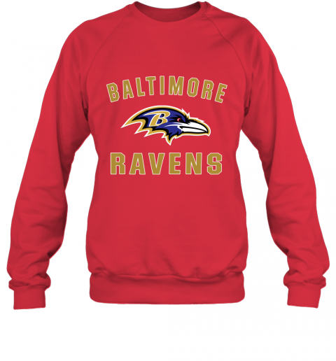 403m mens baltimore ravens nfl pro line by fanatics branded gray victory arch t shirt sweatshirt 35 front red