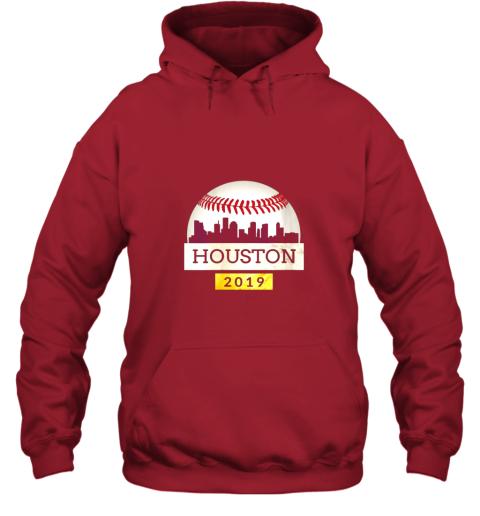 mryl houston baseball shirt 2019 astro skyline on giant ball hoodie 23 front red