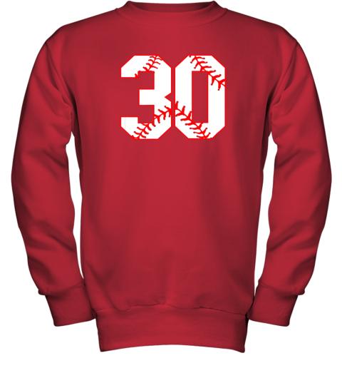 g99j thirtieth birthday party 30th baseball shirt born 1989 youth sweatshirt 47 front red