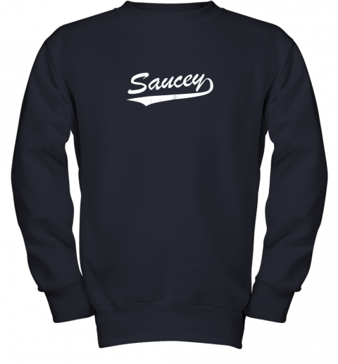 afbh saucey swag baseball youth sweatshirt 47 front navy
