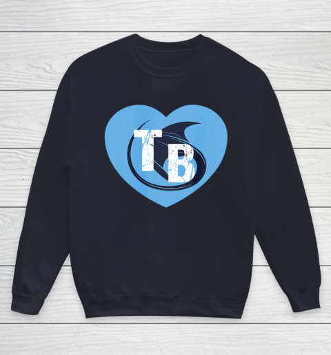 Stingray Love Tampa Bay Vintage TB Cool Tampa Bay Heart Youth Sweatshirt 3