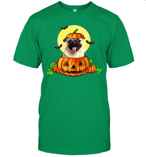 Pug Dog Witch Halloween Pumpkin Gift T-Shirt