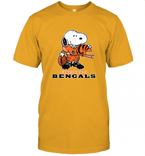 Snoopy A Strong And Proud Cincinnati Bengals Player NFL Unisex Jersey Tee