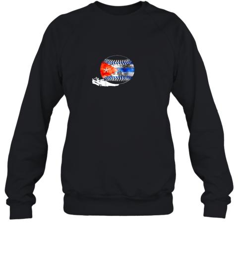 Vintage Baseball Cuba Flag Shirt Cuban Pride Sweatshirt
