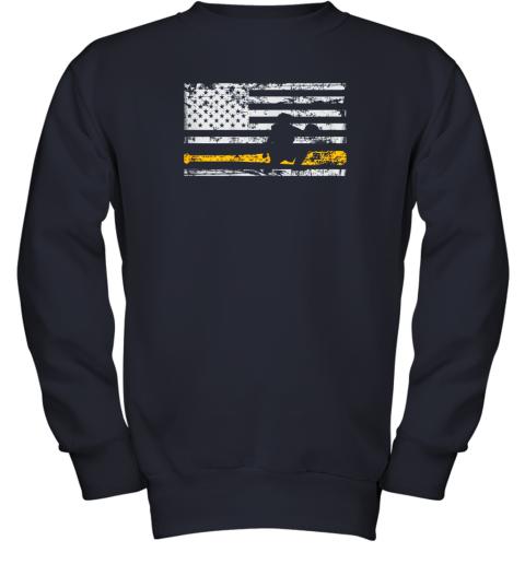 d8bq softball catcher shirts baseball catcher american flag youth sweatshirt 47 front navy