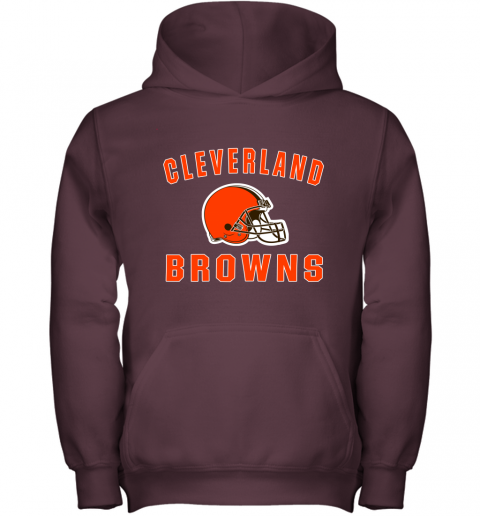 r6zh cleveland browns nfl line by fanatics branded brown victory youth hoodie 43 front maroon