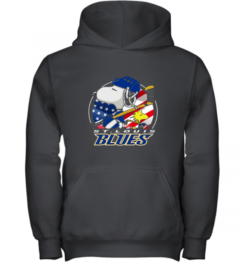 St Louis Blues   Snoopy And Woodstock NHL Youth Hoodie