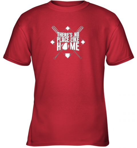 tzq0 there39 s no place like home baseball tshirt mom dad youth youth t shirt 26 front red