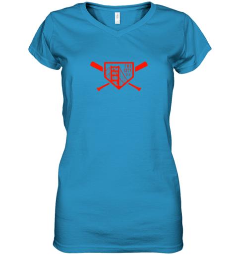 t24y cool san francisco baseball the city bridge sfo women v neck t shirt 39 front sapphire