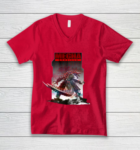 Godzilla vs Kong Mechagodzilla V-Neck T-Shirt 6