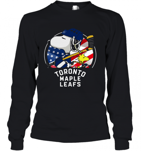 Toronto Mapples Leafs  Snoopy And Woodstock NHL Youth Long Sleeve