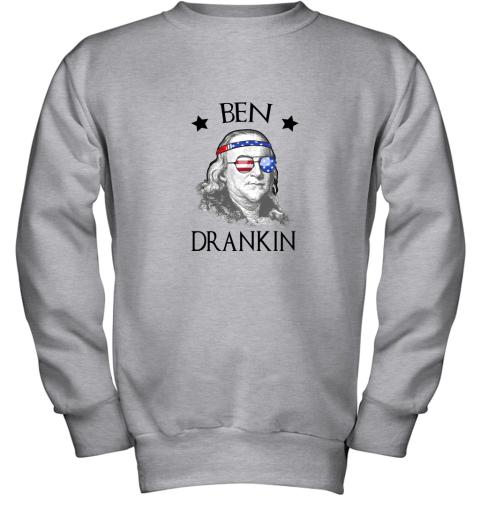 Day 4th Of July Ben Drankin Benjamin Franklin Youth Sweatshirt