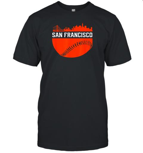 San Francisco Baseball Vintage SF The City Skyline Gift Unisex Jersey Tee