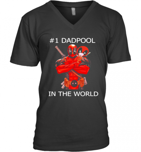 #1 Dadpool in the world shirt V-Neck T-Shirt