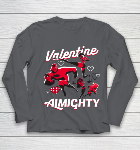Disney Pixar Incredibles Family Valentine Almighty Youth Long Sleeve 6