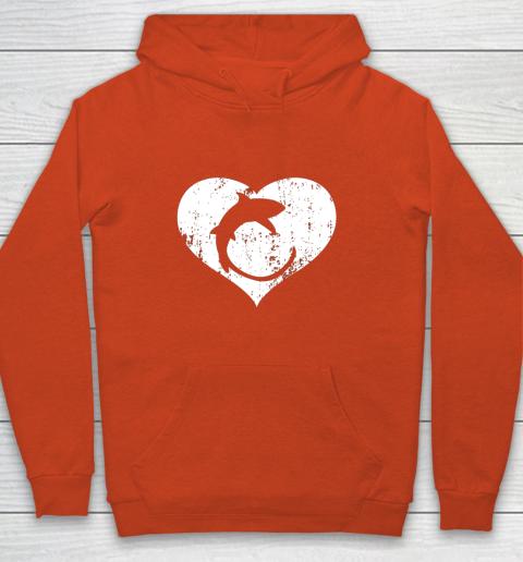 I Love Sharks Gifts Thresher Shark Heart Valentine Gift Youth Hoodie 3
