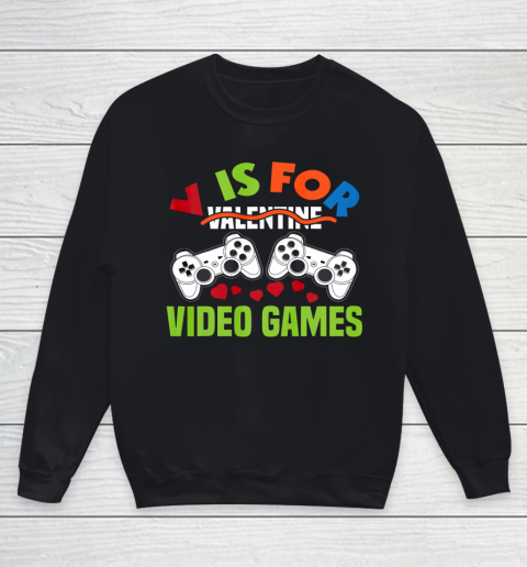 Funny Video Games Lover Valentine Day Youth Sweatshirt