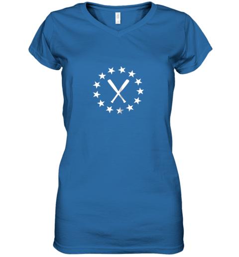 183c baseball with bats shirt baseballin player gear gifts women v neck t shirt 39 front royal
