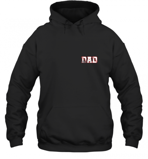 Mens Baseball Inspired Dad Fathers Day Distressed Hoodie
