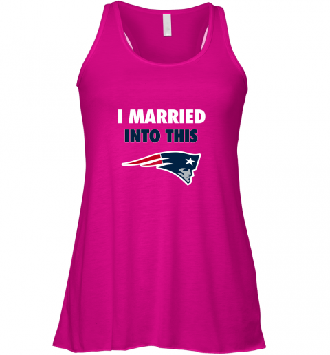 5fxa i married into this new england patriots football nfl flowy tank 32 front neon pink